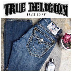 True Religion Distressed Straight Denim Jeans